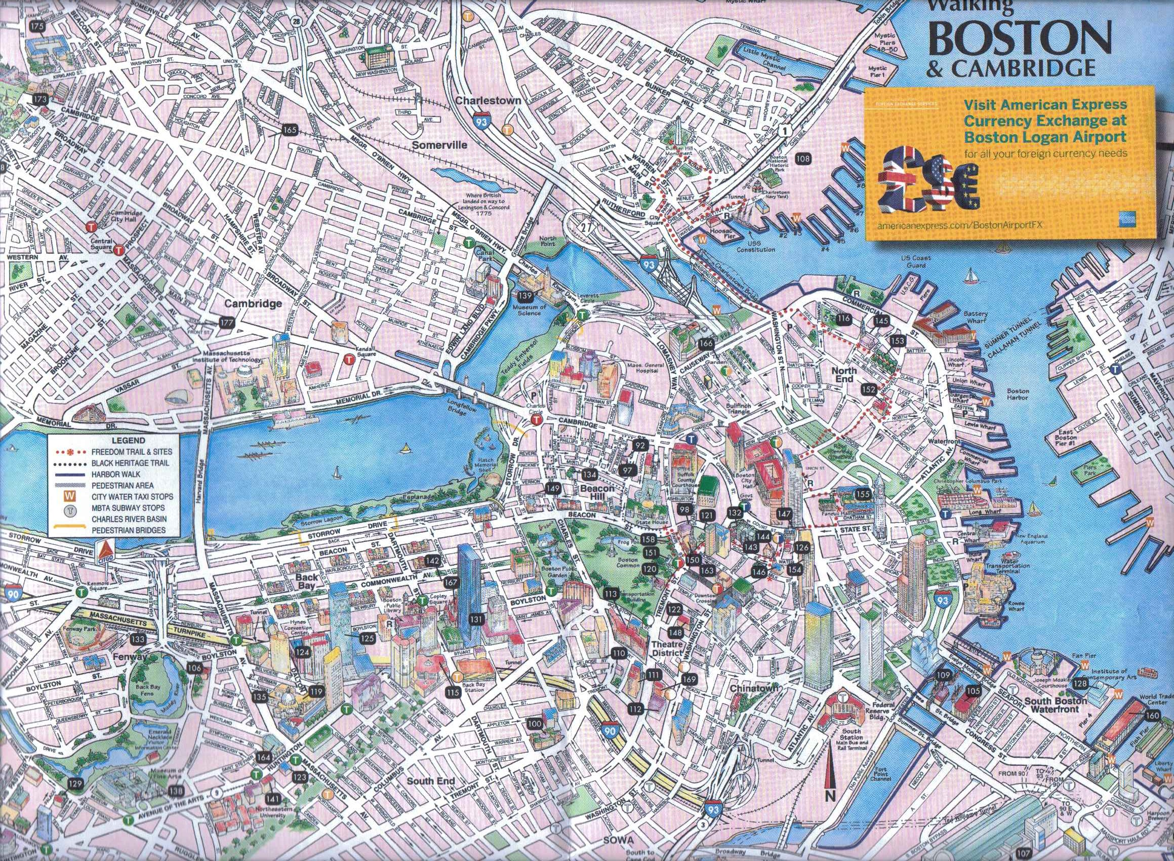 Typical Tourist Map – Boston Map Tourist